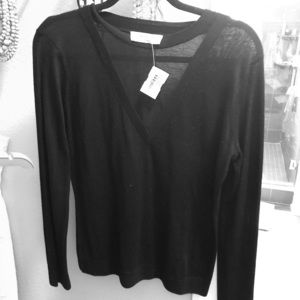 NWT Bailey 44 v neck mesh sweater